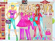 Barbie room dress up öltöztetős játékok