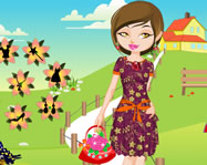 Flower girl dress up online öltöztetős játék